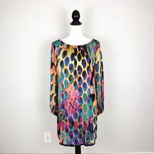 Trina Turk Polka Dot Silk Shift Dress